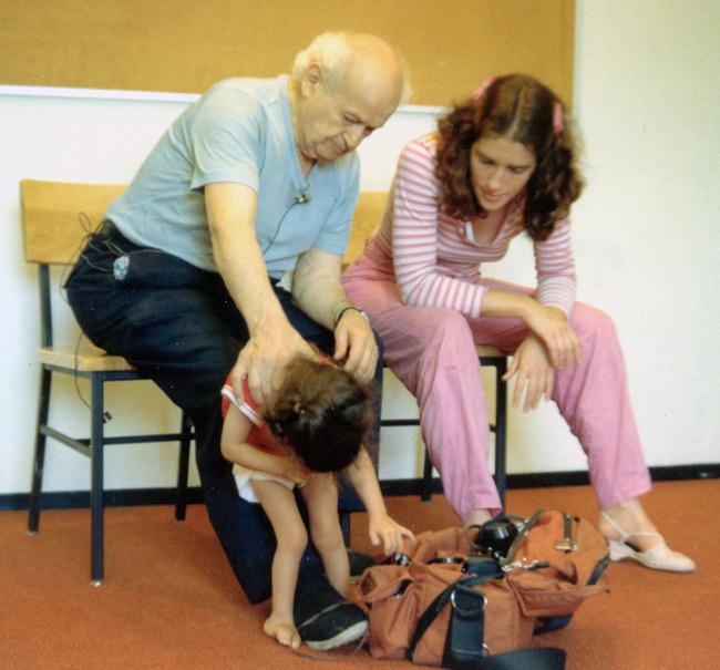 Dr. Feldenkrais & Anat Baniel work with a child